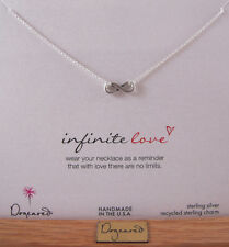"Dogeared 16"" Sterling Silver Infinite Love Necklace NEW"