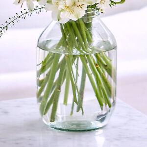 TRADITIONAL VINTAGE STYLE PICKLE JAR GLASS FLOWER VASE 22CM ~ UK BUSINESS