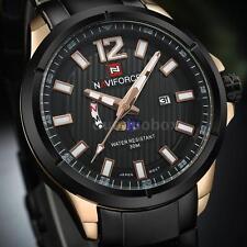 NAVIFORCE Luxury Stainless Steel Men Quartz Calendar Watch With Moon Phase C5A3
