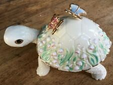 """Lenox """"The Summer Garden Turtle"""" fine china porcelain Turtle Collectible"""