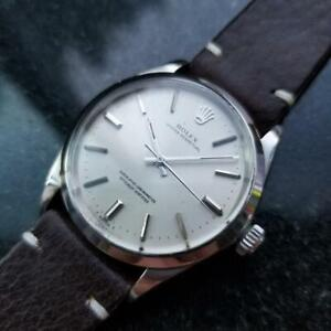Mens Rolex Oyster perpetual 1002 34mm 1960s Automatic Swiss Vintage Watch LV916