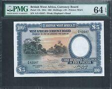 British West Africa £5  P11b  PMG 64 EPQ