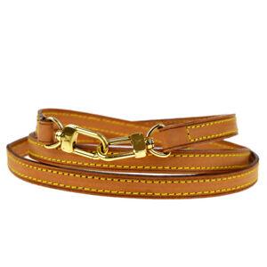 Authentic LOUIS VUITTON LV Shoulder Bag Strap Leather Beige  Accessories 60MD558