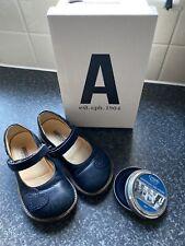 Angulus Navy Natural Rubber Soles Mary Jane Shoes Girls Designer Uk 7.5 Polish