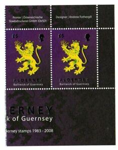 Alderney Stamps 2008 SG A348   25 Years of Alderney Stamps  Pair Mint MNH