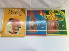 Vintage Needlework Book Bundle x3 - Shirts & Blouses, Jackets, Simply Sewing