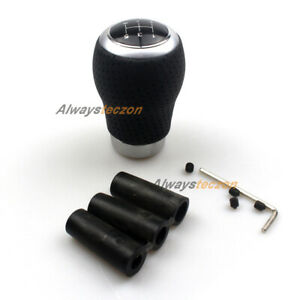5 Speed Leather Universal Manual Car Gear Shift Knob Lever Stick Shifter