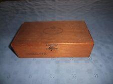 vintage criterion wooden cigar box