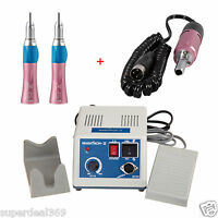 Dental Lab Marathon 35K rpm Electric Micromotor N3 + 2*Straight Handpiece Pink