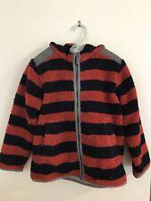 Hanna Andersson Jacket Boys Size 120 7 Full Zip Hooded Striped Fleece
