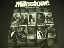 MILESTONE Jazz Promo Poster Ad BYRD Monk EVANS Rollins BLAKEY Mann MONTGOMERY