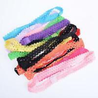 10PCS New Baby DIY Toddler Elastic Lace Headband Hair Bands Hair Accessories