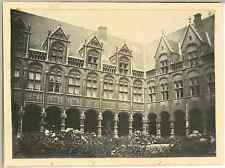 Belgique, Liège, La Bourse  Vintage silver print. Vintage Belgium Tirage argen