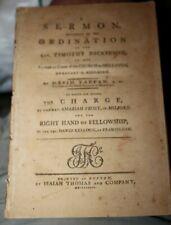 Sermon for the Ordination Timothy Dickinson Holliston Massachusetts 1789 Tappen