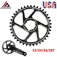 US GXP 3mm 32/34/36/38T Narrow Wide MTB Bike Chainring Sprocket Single Crankset