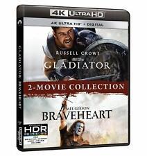 Gladiator Braveheart 2-Movie Collection 4K Blu-ray Digital Brand New Mel Gibson