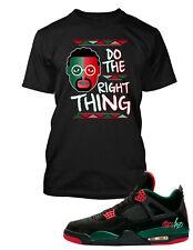 Spike Lee Tee shirt to Match Jordan 4 Shoe Do the Right Thing Men Big & Tall