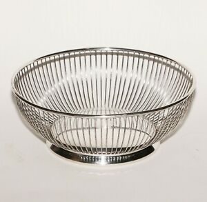 """10"""" Exc. + Vintage F.B. Rogers Silver Plated Bread Basket"""