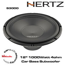 "HERTZ uno S300 S4 - 12"" CAR AUDIO SUBWOOFER SUB WOOFER PER AUTO 1000W WOOFER BASS"