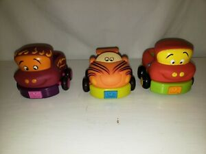 3 Soft top Truck and car for small children with pull back action
