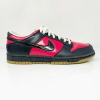 Nike Womens Dunk Low 309324-602 Pink Black Running Shoes Lace Up Low Top Size 9