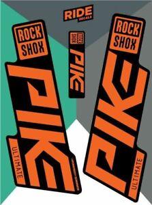 RockShox Pike Ultimate 2019 Stealth Orange Replica Decals