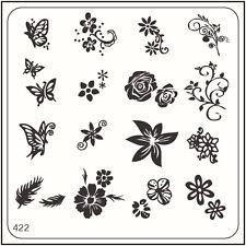 MoYou Nail Fashion Stamping Nail Art Image Plate 422 Bridal Style Flowers