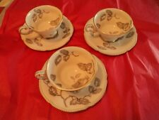 Set of 3 CASTLETON GLORIA PATTERN CUP and SAUCER FINE CHINA Free Shipping
