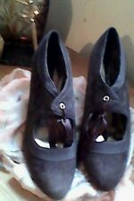 Ladies Brown Suede  Victorian Brogue Style Shoes size 5 By Autograph