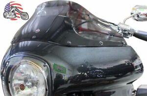 """Klock Werks 9"""" Dark Smoke Flare Windshield Harley FXR FXRT FXRP Sport Glide"""
