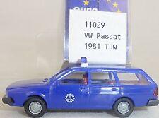 THW VW PASSAT AÑO 1981 Azul IMU EUROMODELL 11029 H0 1:87 emb.orig # HO 2 å