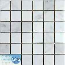 "MARBLE MOSAIC 2""x2"" FOR FLOOR OR WALL- NEW CARRARA"