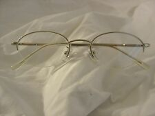 Foster Grant Reading Glasses 1.00 Silver Metal Half Rimless Spring Hinged Temple