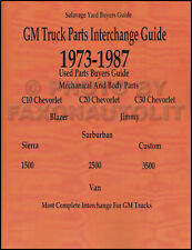 GMC Sierra Interchange Manual 1974 1975 1976 1977 1978 1979 1980 1981 1982 1983