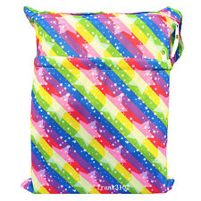 1 Star Wet Dry Bag Baby Cloth Diaper Nappy Bag Reusable With Two Zipper Pockets
