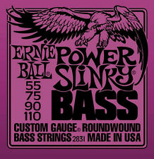 *4-STRING* BASS GUITAR STRINGS 2831 ERNIE BALL POWER SLINKY ROUNDWOUND 55-110