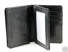 New Mens Bifold Leather ID Wallet Black Multi Holder Credit Card Slot Window C18