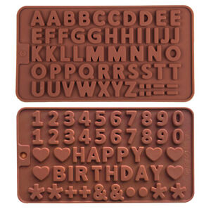 Silicone Alphabet Letter Number Chocolate Mould Candy Cookie Ice Cube Jelly Mold