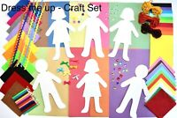 Childrens Art Material Set DRESS ME UP Kids Creative Crafting Supplies Activity
