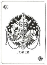 A5 STAMPA -- vintage playing card JOKER (PICTURE POSTER Texas conduttori il numero dei POKER art)