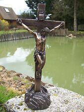 30190   FIGURINE STATUETTE   STATUE CRUCIFIX   STYLE    BRONZE JESUS CHRIST