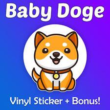 "BabyDoge Vinyl Sticker 2.5"" + Optional Bonus (100,000,000 Baby Doge 100 Million)"
