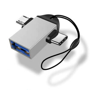 2 in 1 Type C Micro USB Data Transmit Converter Flash Pen Drive OTG Adapter