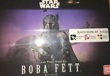 Ban Dai Boba Fett 1/12 Scale Plastic Model Kit Rare Star Wars Mandalorian