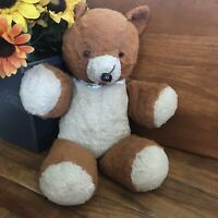 """Vintage Teddy Bear 1940's-1950's 18"""" Long, Dense Filling! Tongue Pinned To Mouth"""