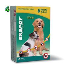 Exspot 6 + 1 gratis (7) pipette 1 ml per Cani da 2,5 kg a 40 kg Antiparassitario