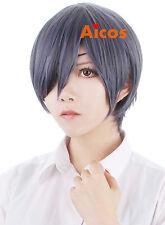 Black Butler Ciel Phantomhive Blue Gray Short Anime Costume Hair Cosplay Wig
