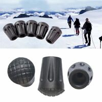 5Pcs Rubber Hiking Trekking Pole Tips Caps Walking Stick Cane Sleeve Covers