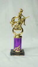 "HALLOWEEN TROPHY, COSTUME PARTY AWARD   WITCH /BROOM 4""PRCW FREE LETTERING"