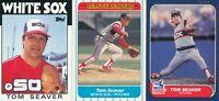 Tom Seaver Lot of three different Chicago White Sox baseball cards  HOF